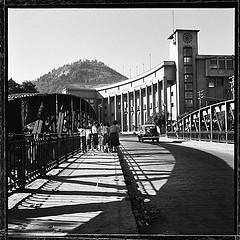 Puente Pio Nono en 1950, la escuela de Derecho